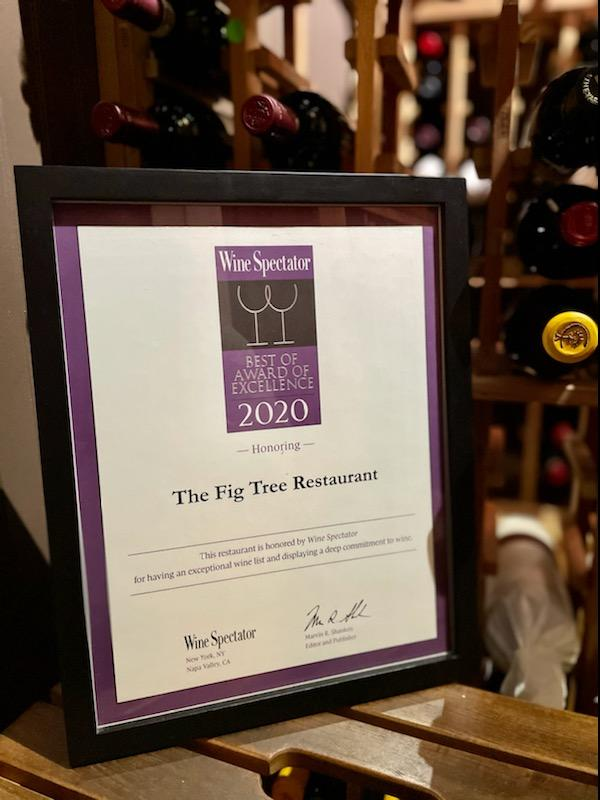 Wine Spectator Best Award of Excellence - 2020